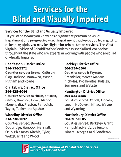 FACTSHEET: Services for the Blind and Visually Impaired